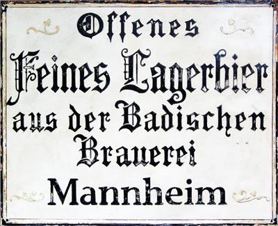 Emaille-Werbeschild Foto © Jürgen Herrmann
