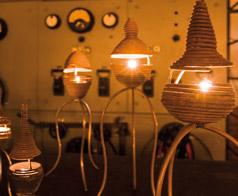 Lichtobjekte von Rüdiger Krenkel, Foto Annette Schrimpf