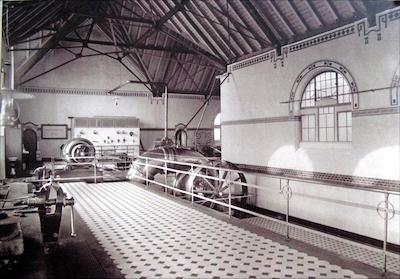 Bauzeitliches Foto des Ochsenpferchpumpwerks – Quelle Stadtarchiv Mannheim