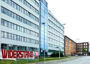 Transparente am Verwaltungsbau Foto: Ritter