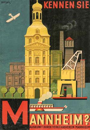 Karl Bertsch (1877-1933) Kennen Sie Mannheim, 1929 © MARCHIVUM