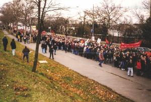 Demo 26. Januar 1998, Foto: BR ABB Mannheim-Käfertal.