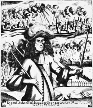 Verwüstung der Pfalz im Erbfolgekrieg – Quelle: Wikipedia gemeinfrei