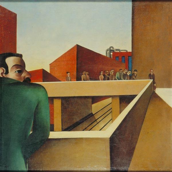 Karl Völker, Industriebild, um 1924 Kulturstiftung Sachsen-Anhalt - Kunstmuseum Moritzburg Halle (Saale), Foto: Klaus E. Göltz, © Nachlass Karl Völker