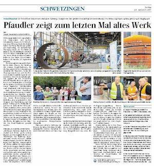 Mannheimer Morgen vom 25. 8. 2017 - Schwetzingen - S. 10