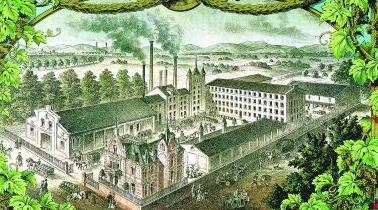 Nach 1850: nicht nur der Bierkeller, sondern auch eine gediegene Brauereivilla gehörten zu den ersten Gebäuden im Wohlgelegen