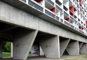 Habitiation von Le Corbusier in Firminy, Frankreich. Foto Ritter