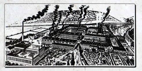 Stich von der Eisenschmelz aus dem späten 19. Jahrhundert (Quelle: Schild Frühindustriepark Gienanth)