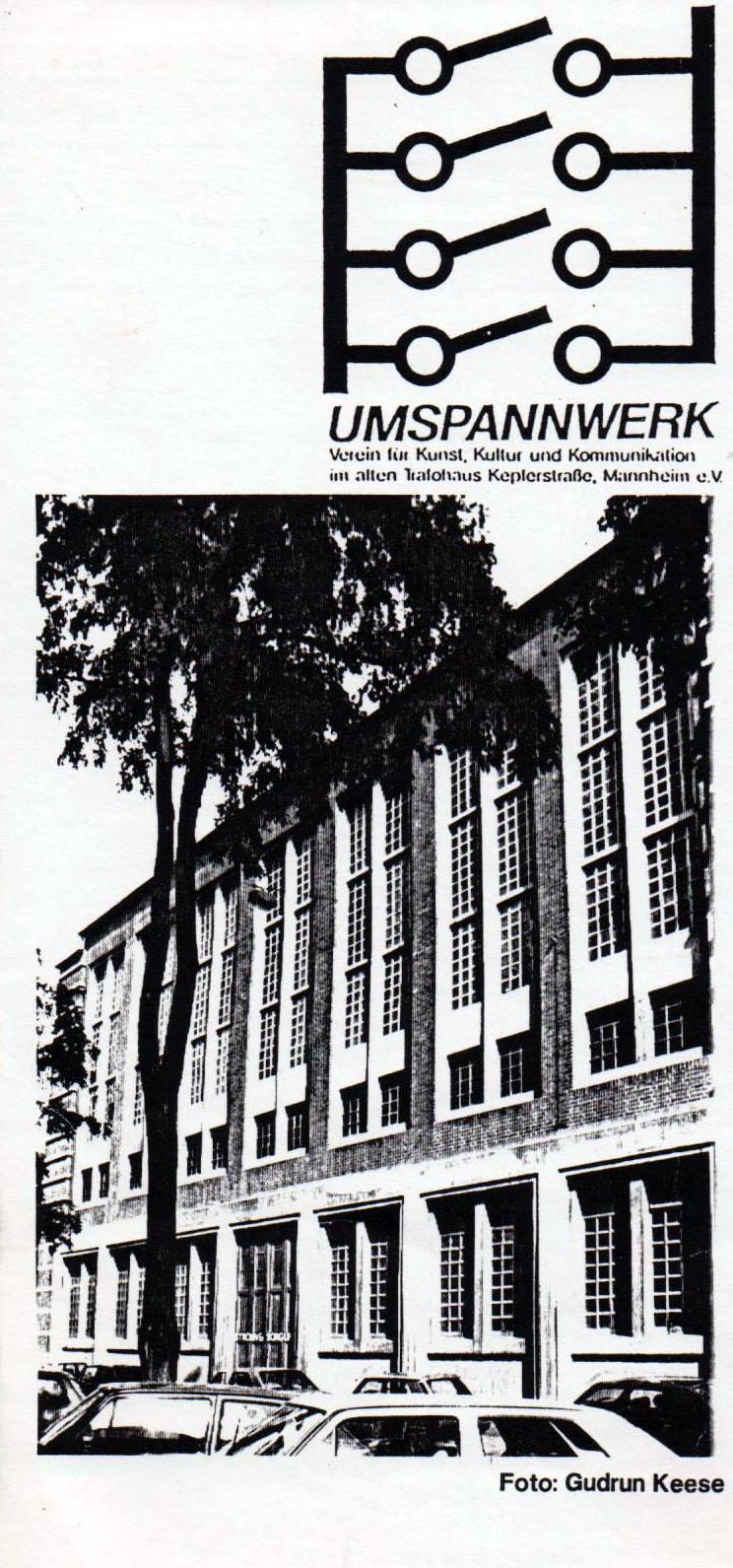 ca. 1988: Flyer zum Erhalt des Umspannwerks