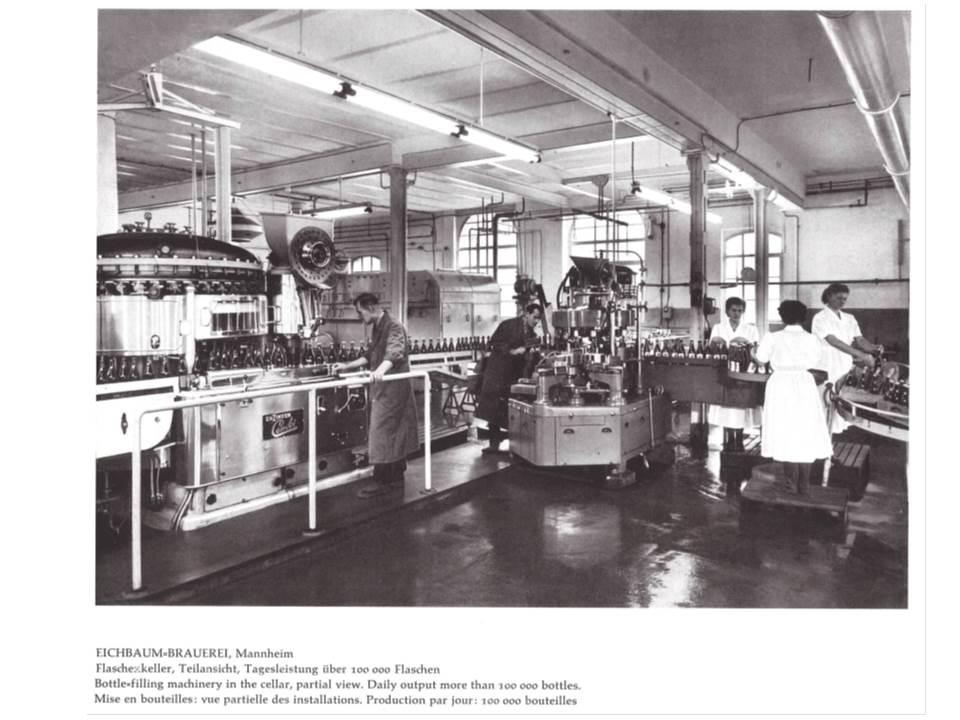 Im Flaschenkeller der 1950er Jahre gab es auch Arbeitsplätze für Frauen
