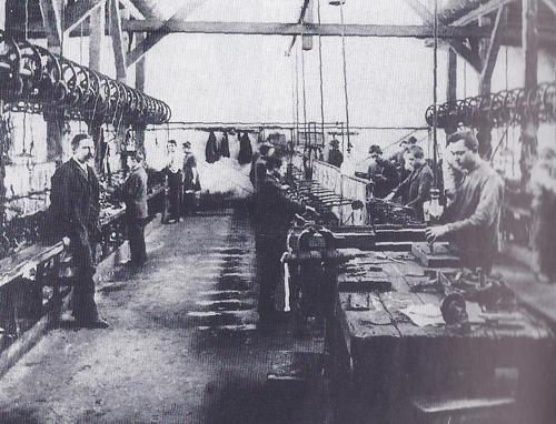 Kammsägerei um 1900