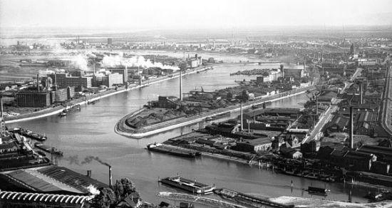 Luftbild Industriehafen 1930