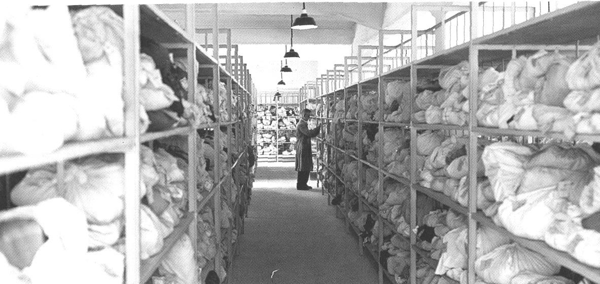 Hygienisch verpackte Pfänder, 1937, (Foto Stadtarchiv)