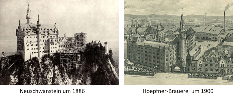 Vergleich Neuschwanstein - Hoepfner