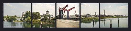 Panorama des Industriehafens nach Osten