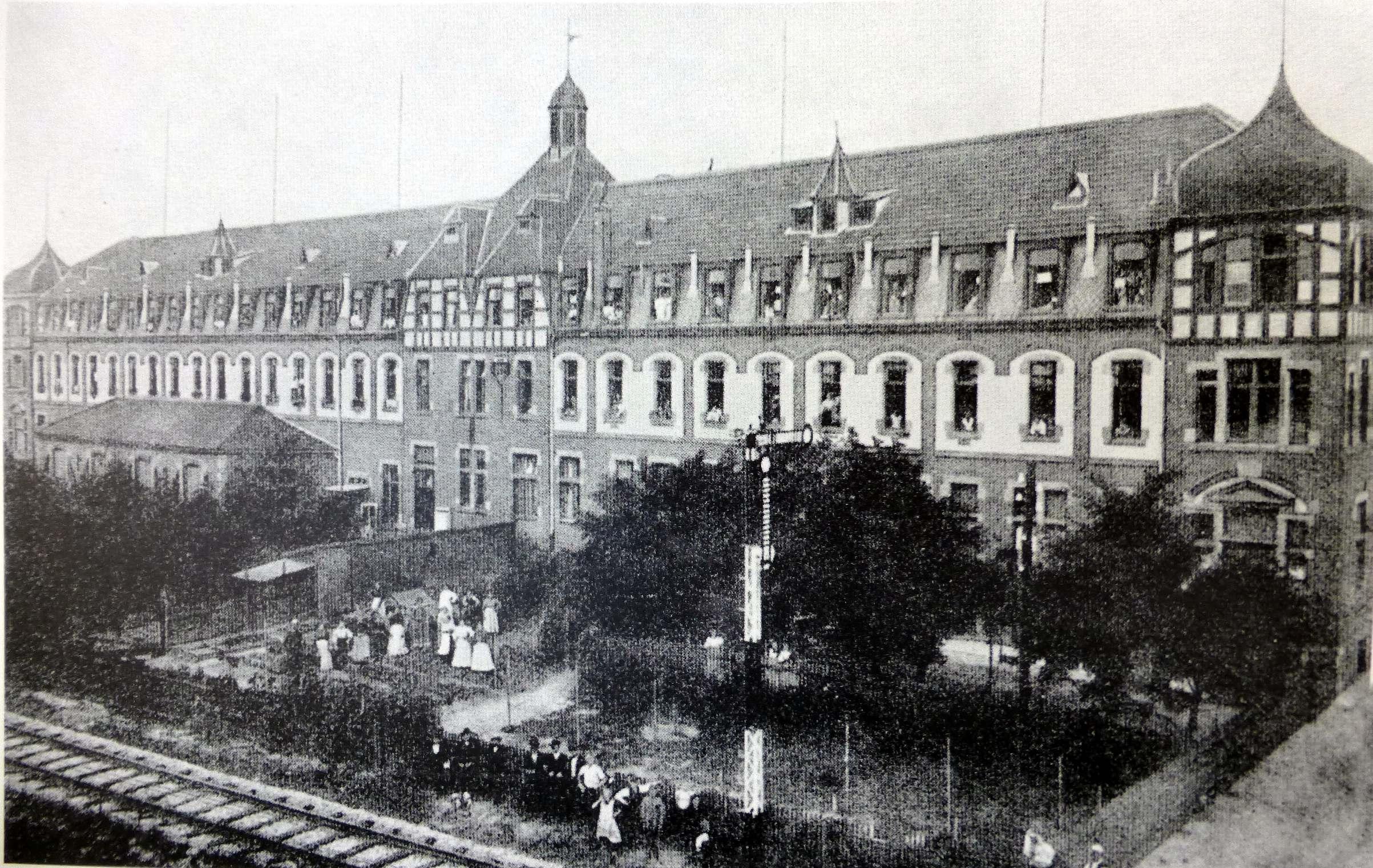 Postkarte vom Wohnheim um 1912 (Foto aus Heierling)