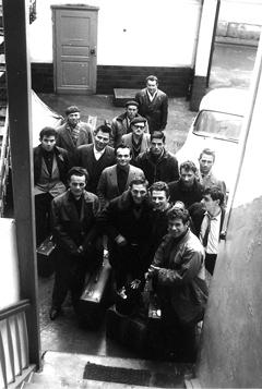 Foto: Stadtarchiv Ludwigshafen, Ankunft der ersten italienischen Gastarbeiter 1962