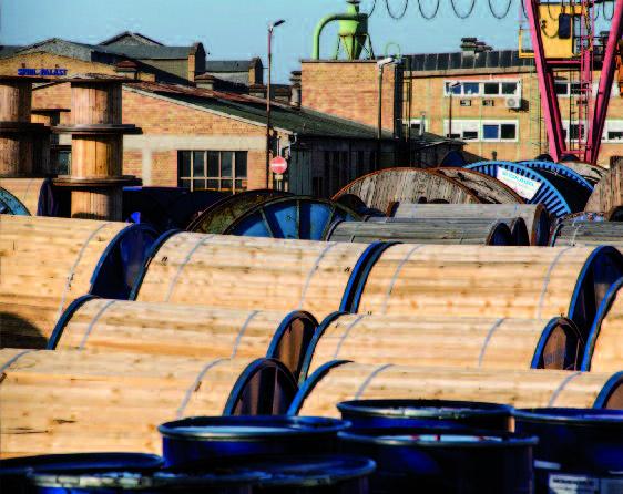 versandfertige Kabeltrommeln bei Südkabel Foto © Annette Schrimpf