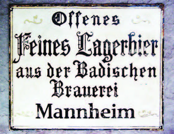 Emaille-Schild, Foto © Jürgen Herrmann