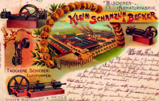 Postkarte Klein, Schanzlin & Becker