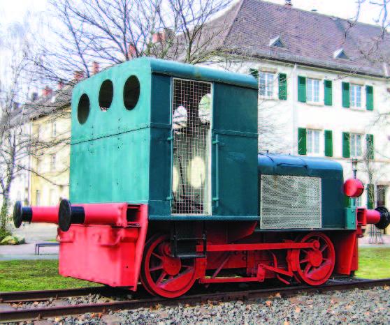 hist. Werkslok der Zuckerfabrik Frankenthal, Foto © Barbara Ritter