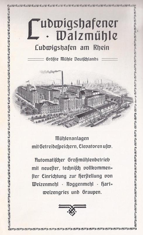 Werbung der Walzmühle um 1910
