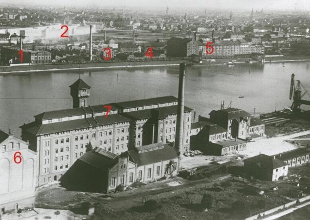 Luftaufnahme Industriehafen 1927