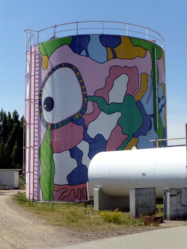 Kunst am Tank von Carsten Kruse (Foto Ritter 2018)
