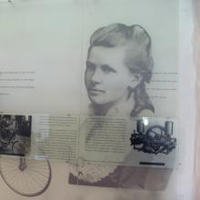 Bertha Benz in der Informationswand